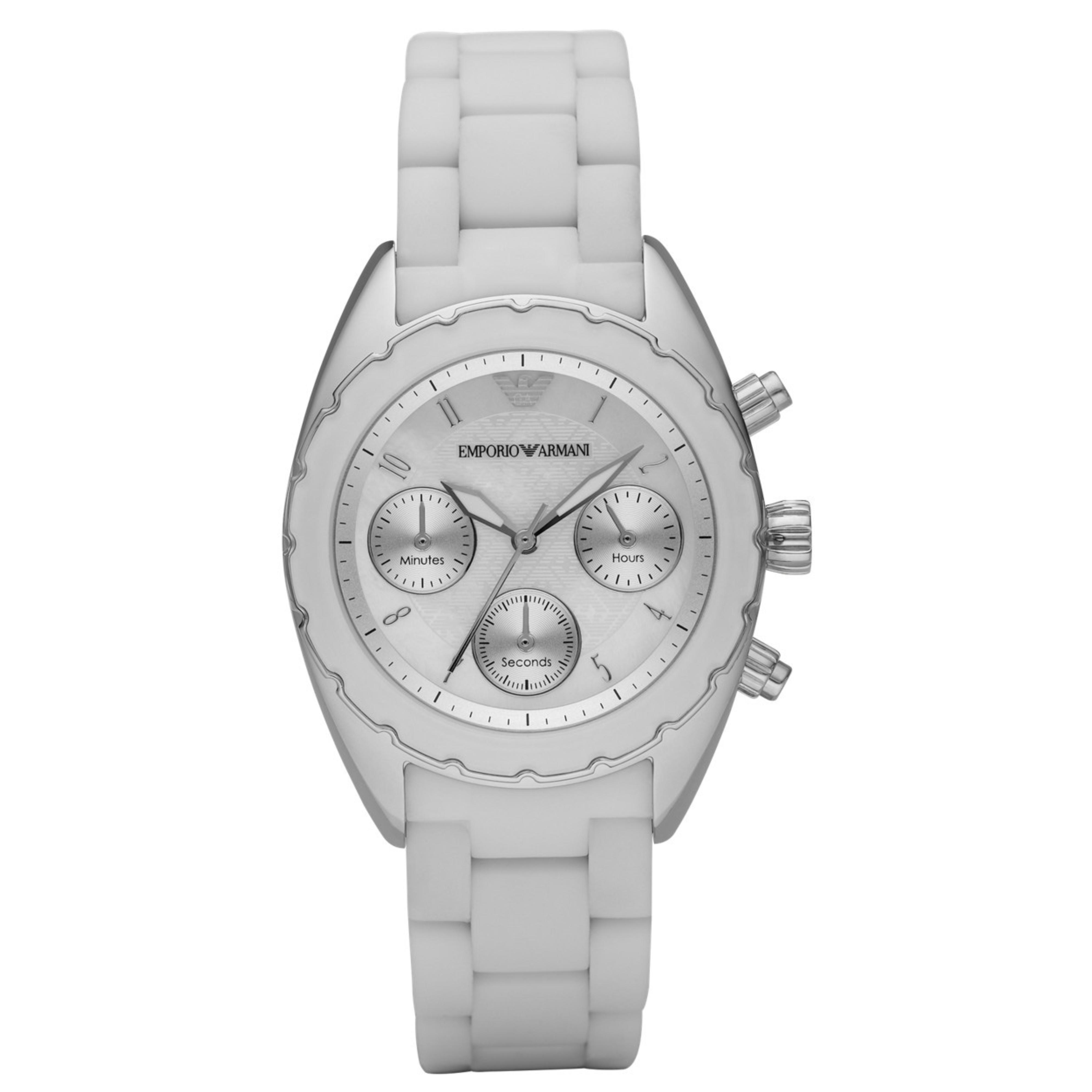 032e83e08fe4 Emporio Armani Deportivo Reloj Mujer Ar5941 │ Blanco Cronómetro ...