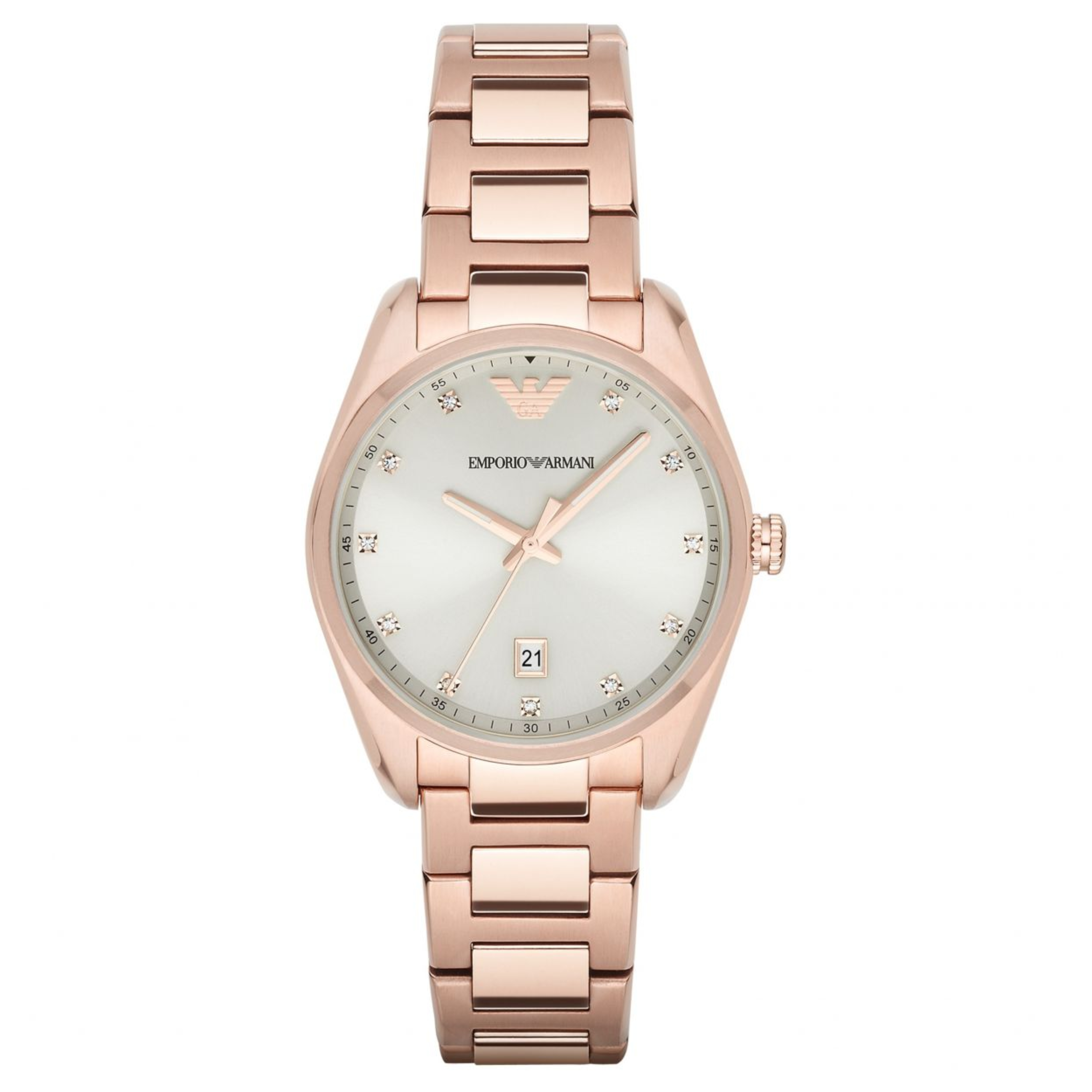 Details about Emporio Armani Classic Women Watch│Silver Sunray Dial│Rose  Gold Bracelet│AR6065 ade826ee8c