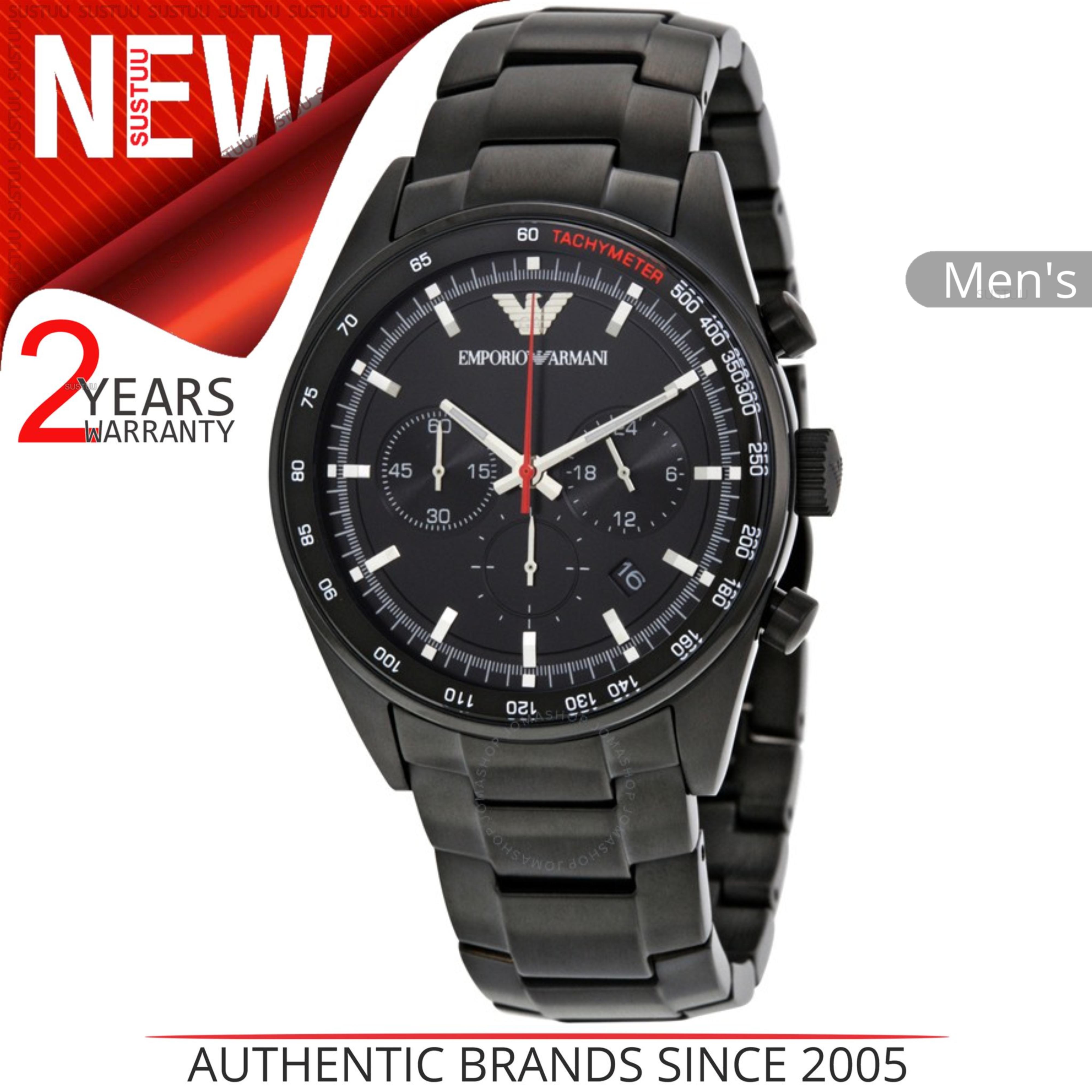 485276461a8e CENTINELA Reloj Emporio Armani Classic para hombre AR6040│ Cronógrafo Dial  Negro ach Tacómetro