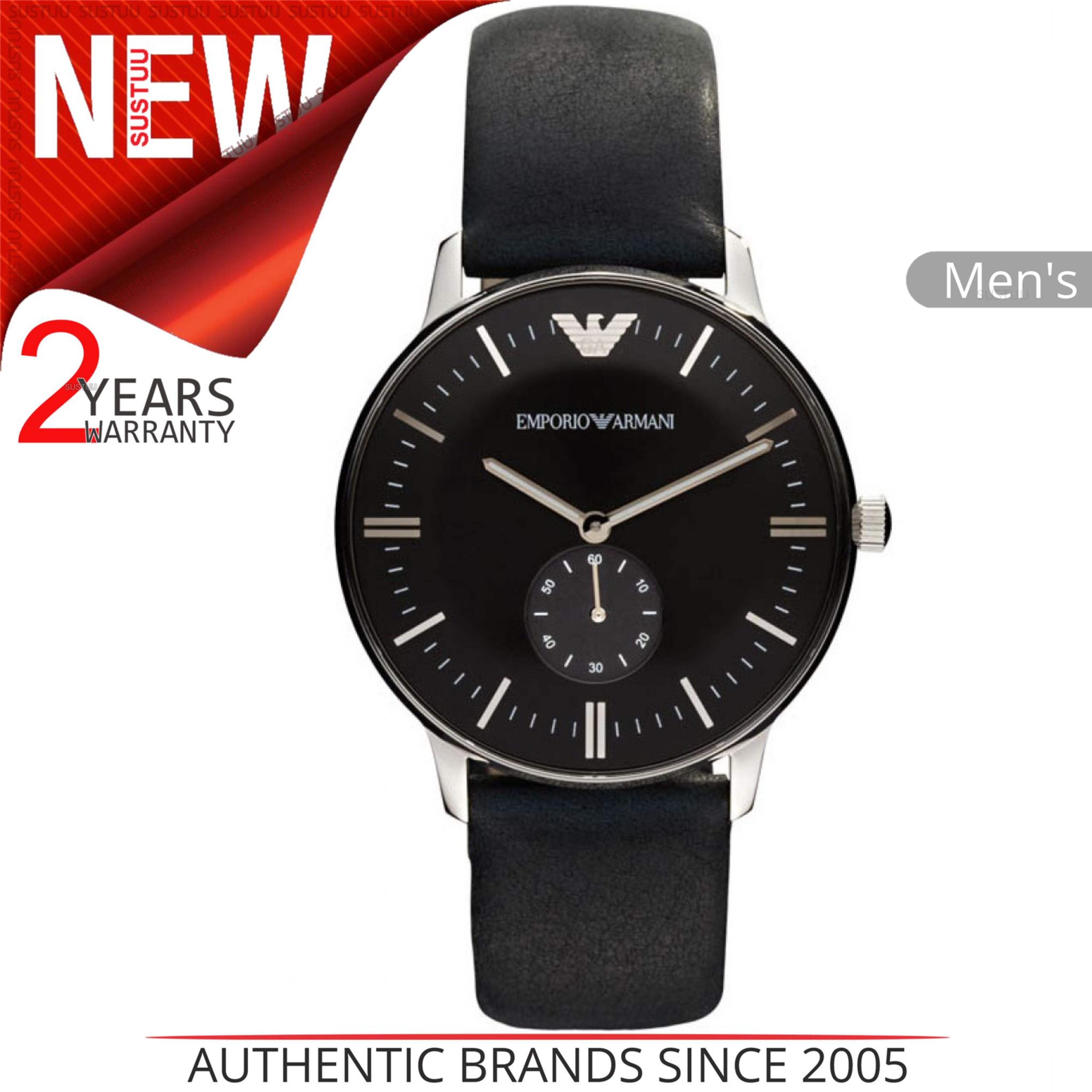 c358db4c9aa29 Sentinel Emporio Armani Classic Men s Watch│Black Chronograph Dial│Leather  Strap│AR0382