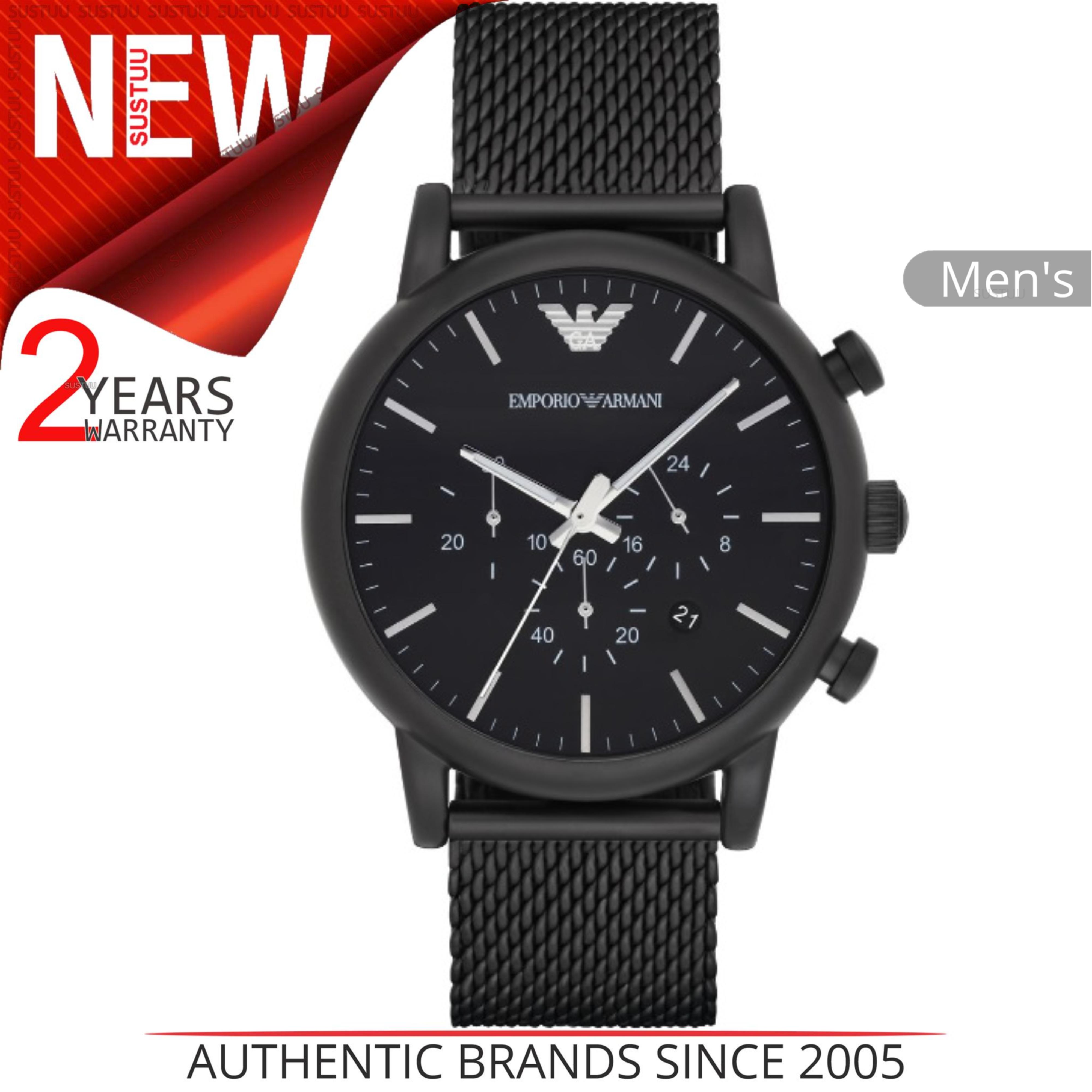 724d5a605fb9 Sentinel Emporio Armani Men s Sport Watch│Chronograph Dial│Black Mesh  Bracelet│AR1968