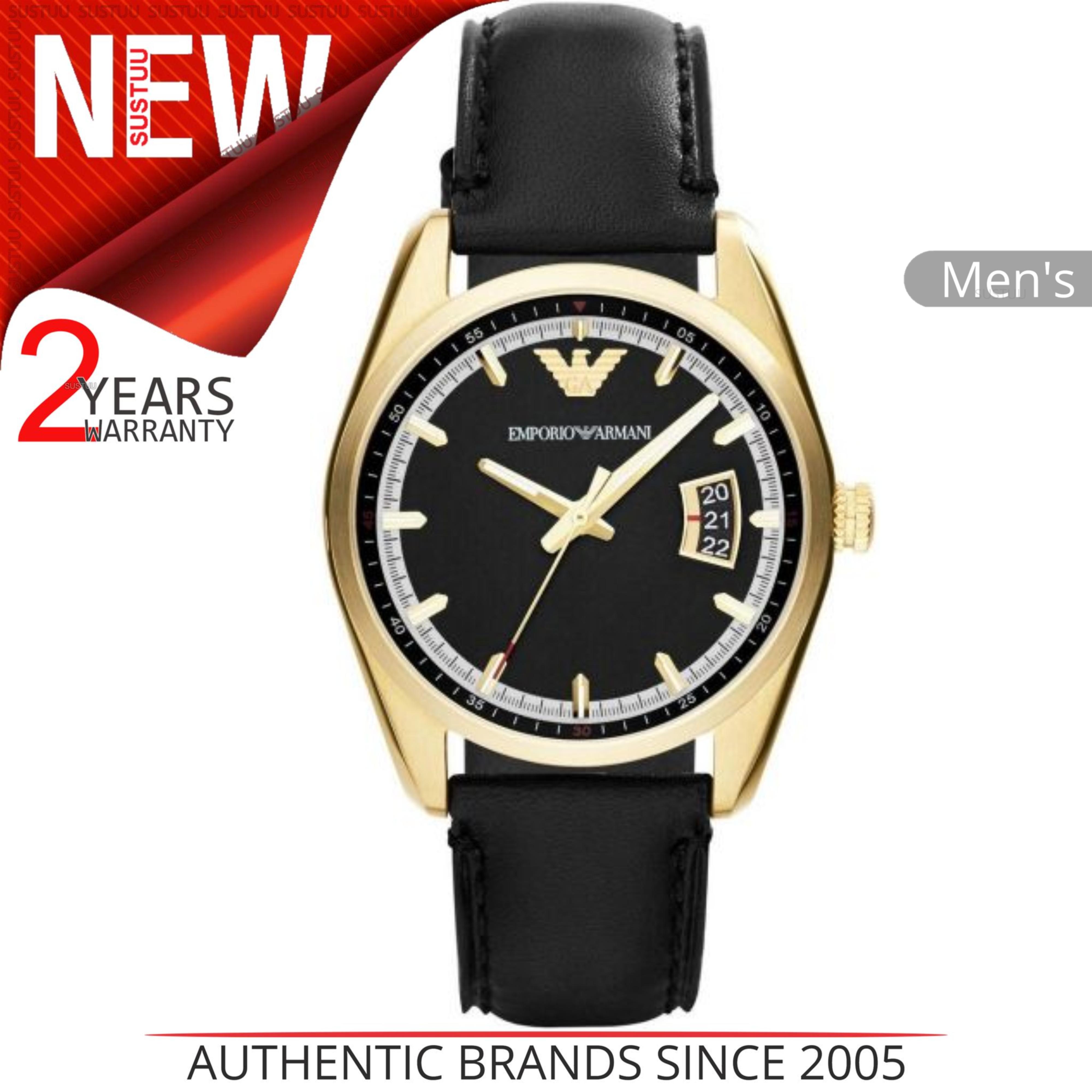 e9ce989d7a5d Sentinel Emporio Armani Sportivo Men s Wrist Watch AR6018│Round Dial│Black  Leather Strap. Sentinel Thumbnail 2
