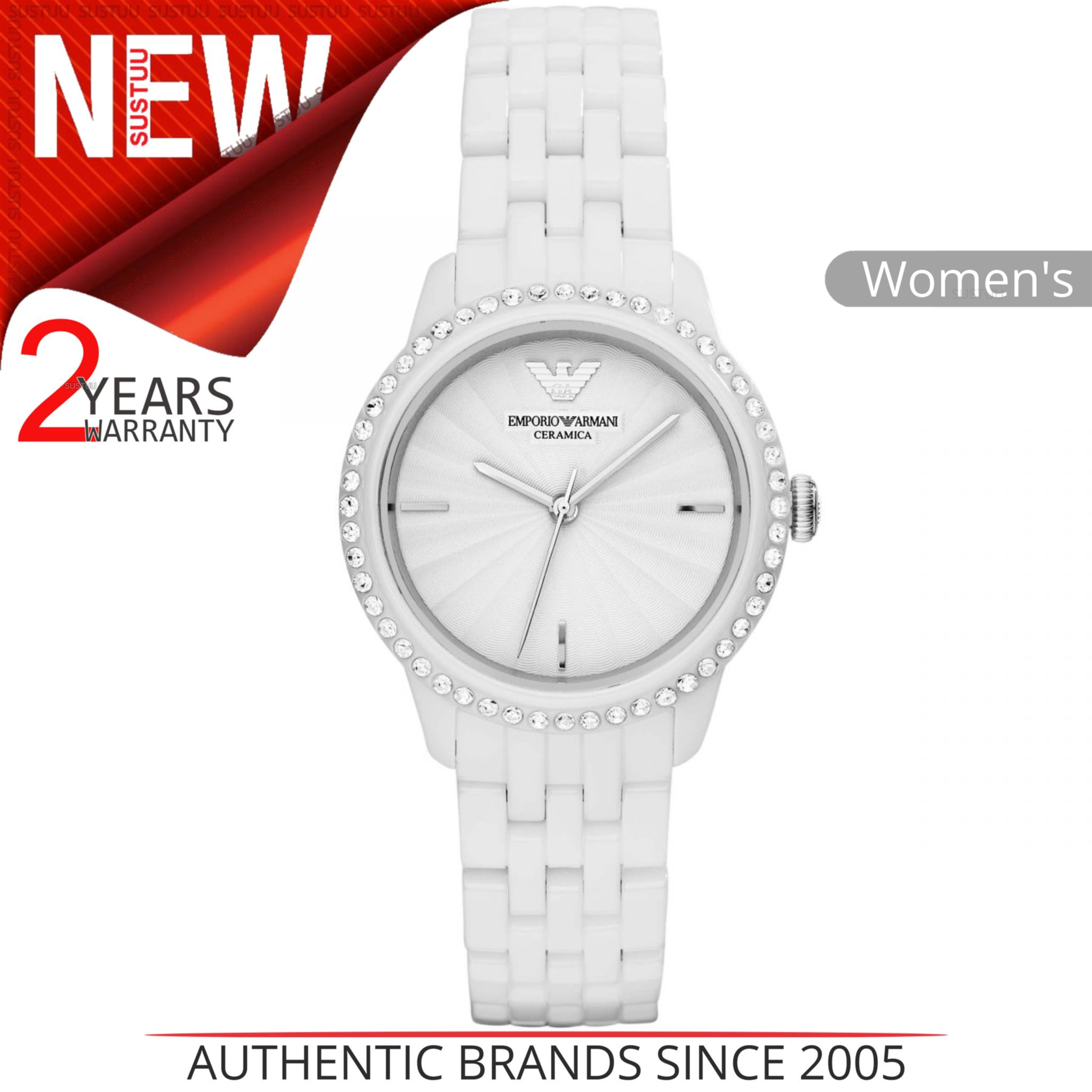 1724c93f Details about Emporio Armani Ladies' Watch│White Round Dial│White Ceramic  Bracelet Band│AR1477