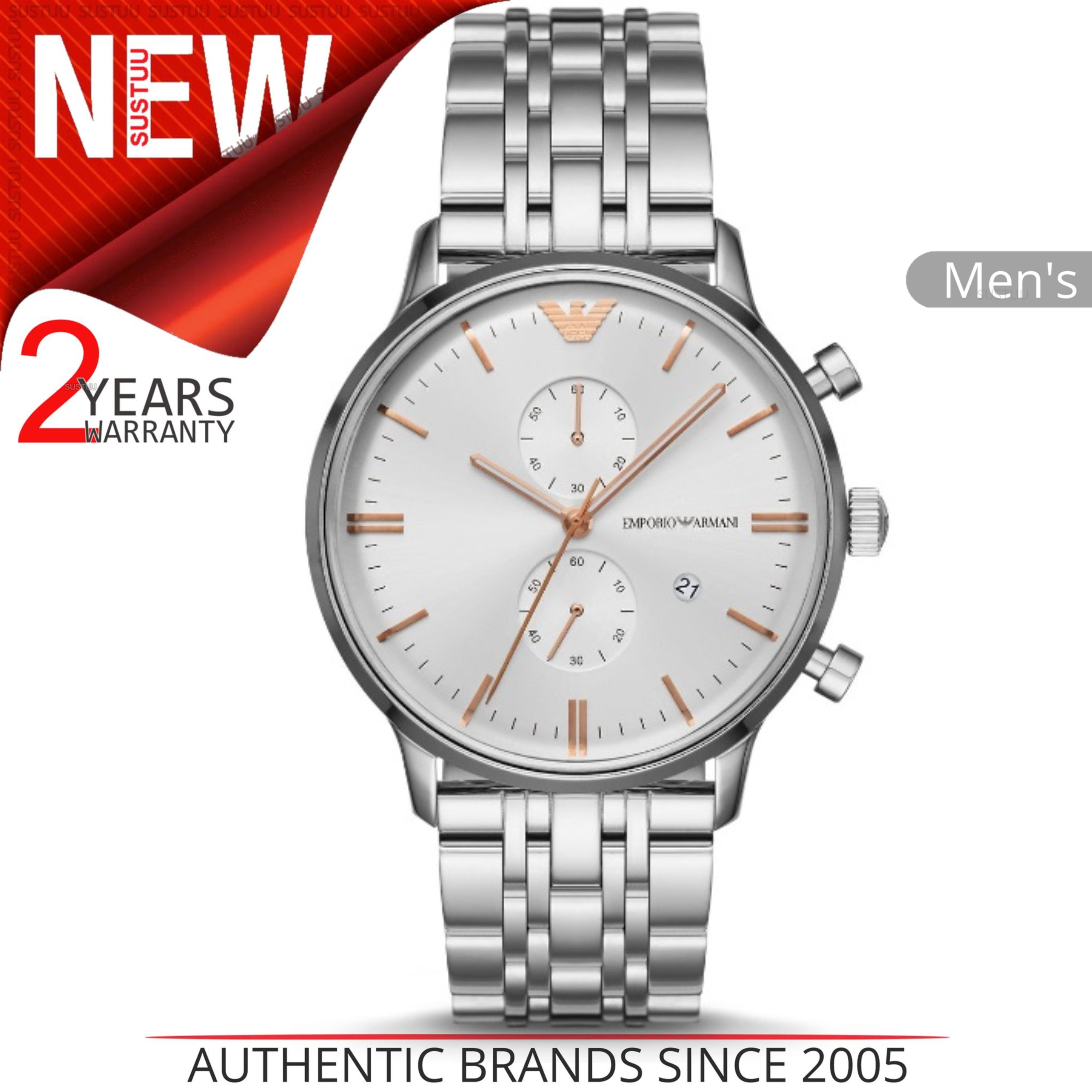 0684fb6e87cda Details about Emporio Armani Men s Watch│Silver Chronograph Dial│silver  Tone Bracelet│AR1933