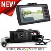 Plug N Go Drive 2 In Car HD Dash Cam | Driving Video Recorder Front & Rear DVR Camera