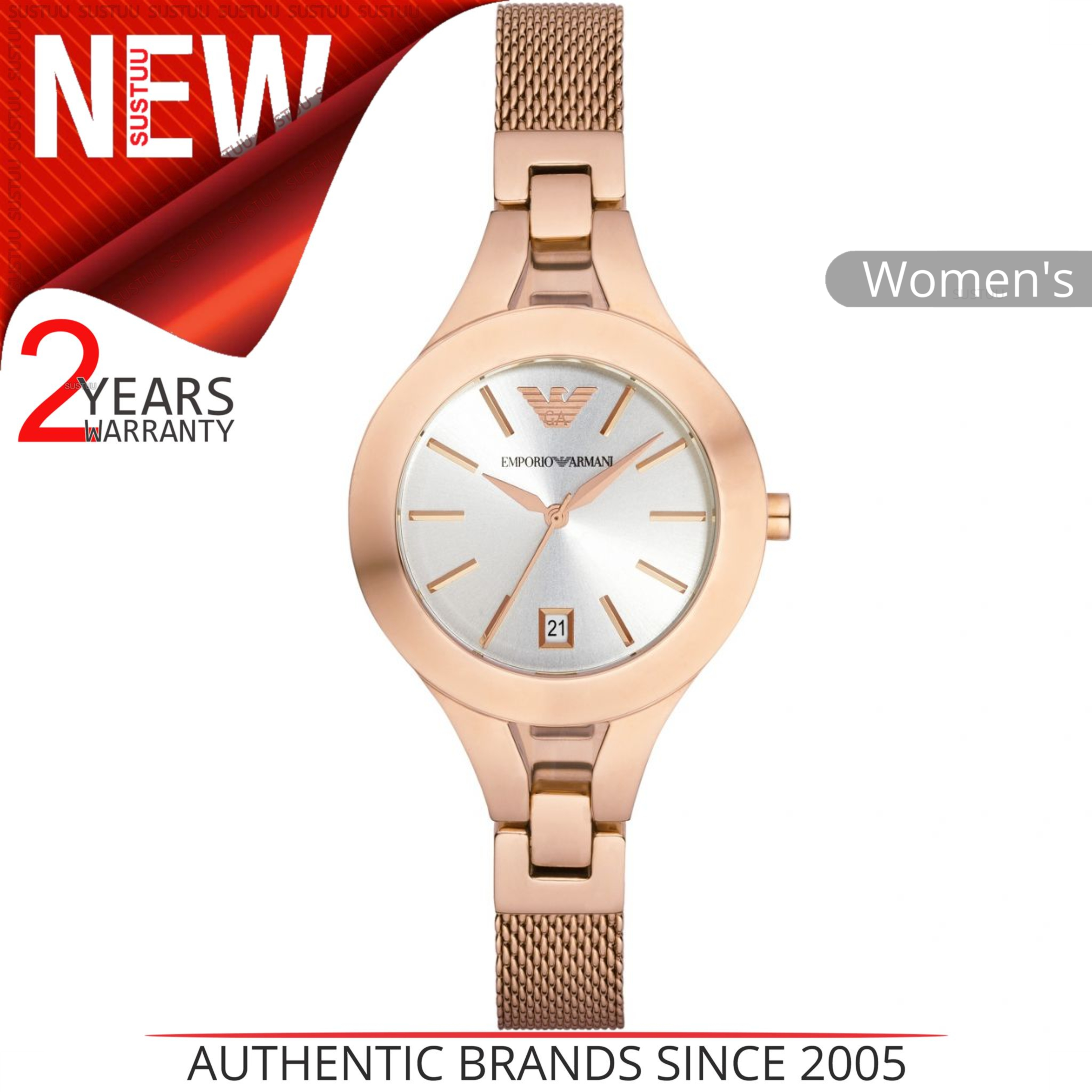 Sentinel Emporio Armani Women s Watch│Chiara Silver Dial│Rose Gold Bracelet  Band│AR7400 bc2876f027