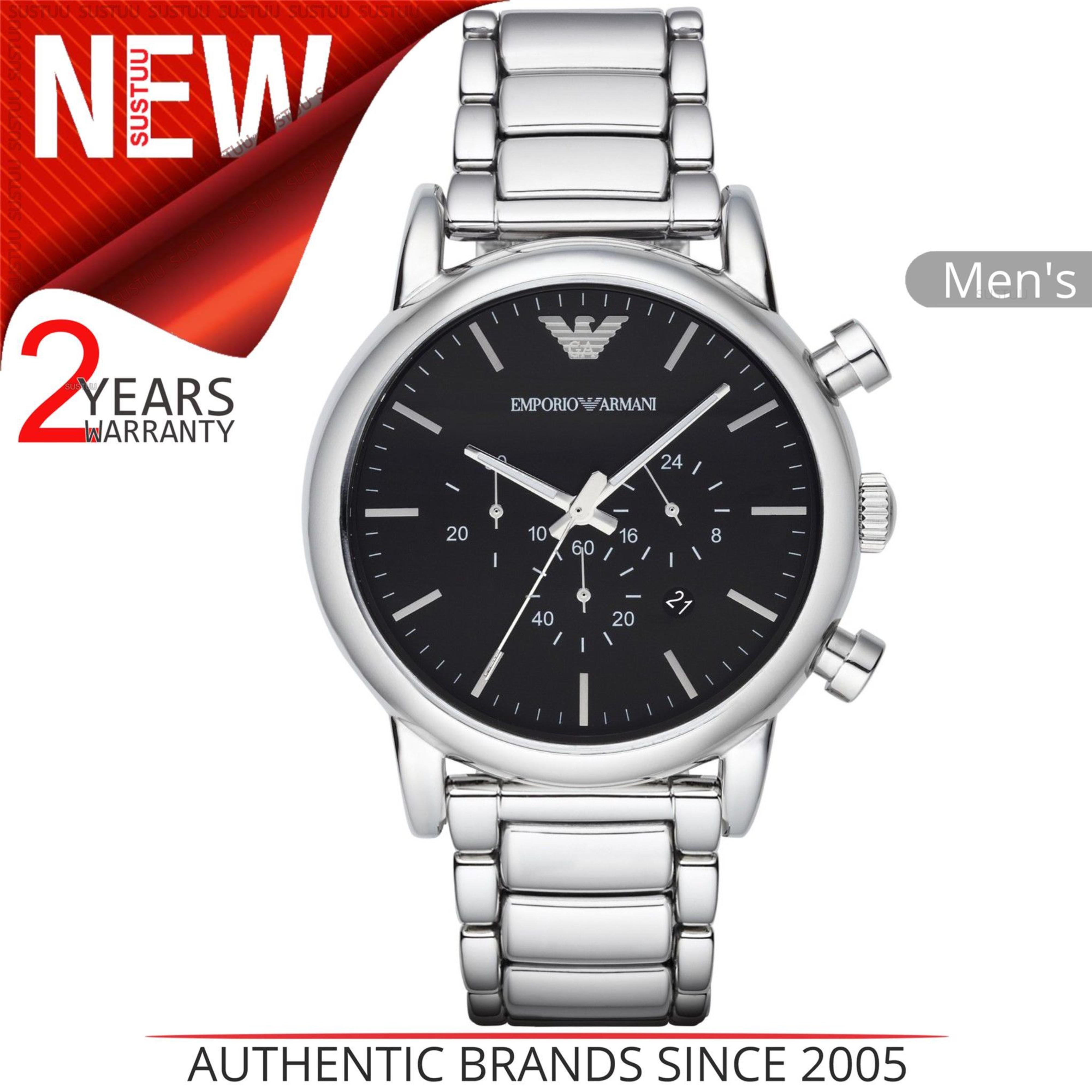 c1118cbfca49 CENTINELA Reloj Emporio Armani Classic para hombre AR1853 │ Dial cronógrafo  negro Steel Acero inoxidable