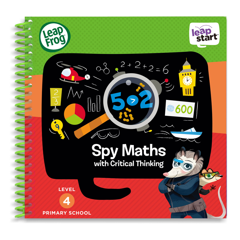Kindercomputer Sprung Frosch Leapstart Spion Mathe Activity Book  │ 30 Replayable Spiele│5 Zu