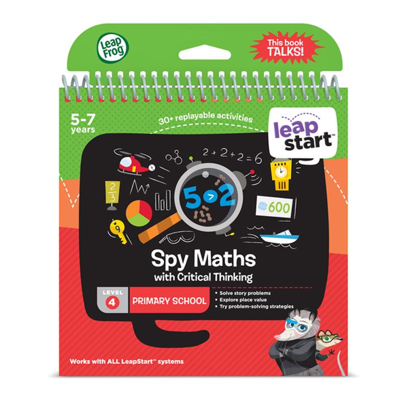 Leapfrog Sprung Frosch Leapstart Spion Mathe Activity Book  │ 30 Replayable Spiele│5 Zu Lernspielzeug