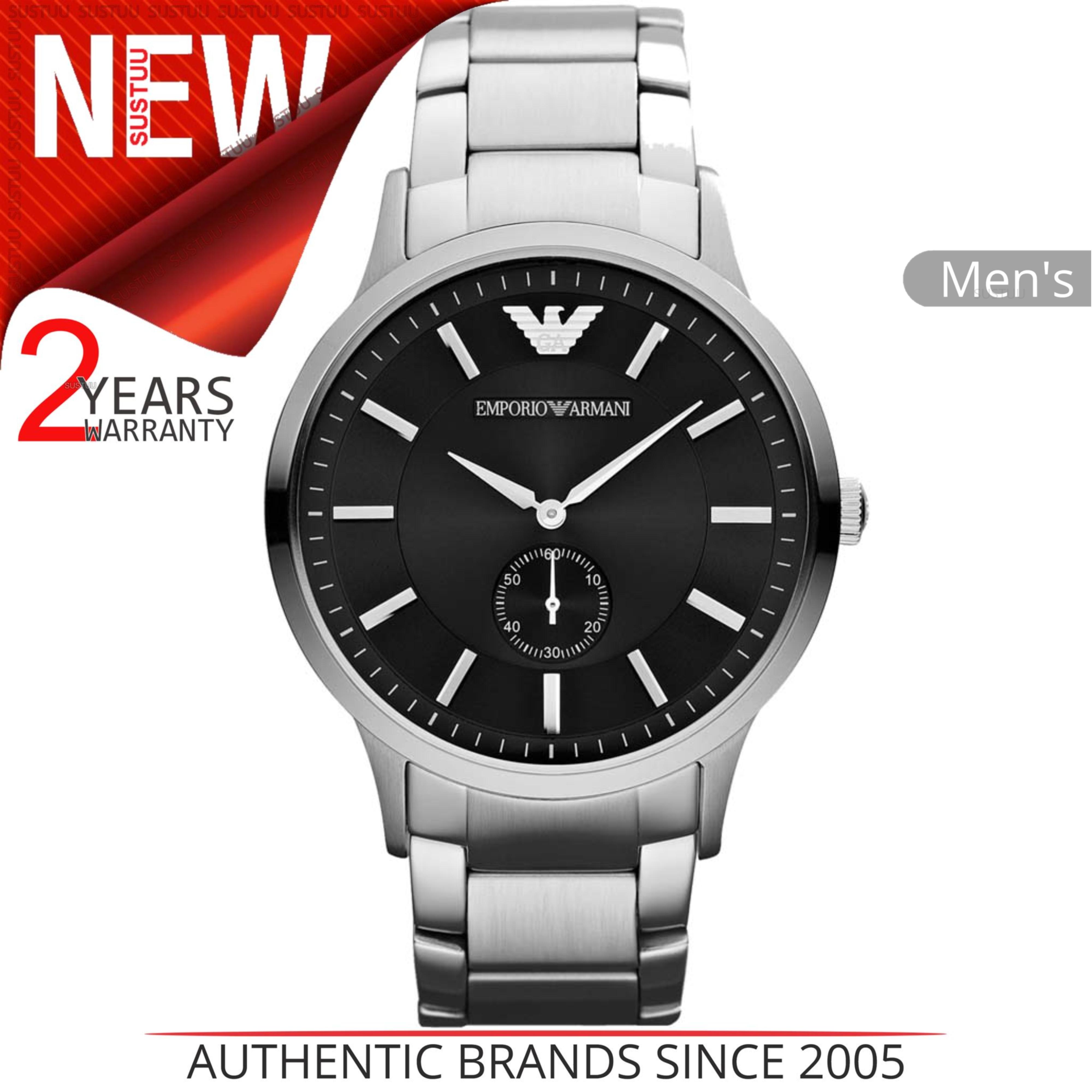 c47861de8f47 Sentinel Emporio Armani Men s Formal Watch AR9107│Round Black Dial│Silver  Tone Bracelet. Sentinel Thumbnail 2