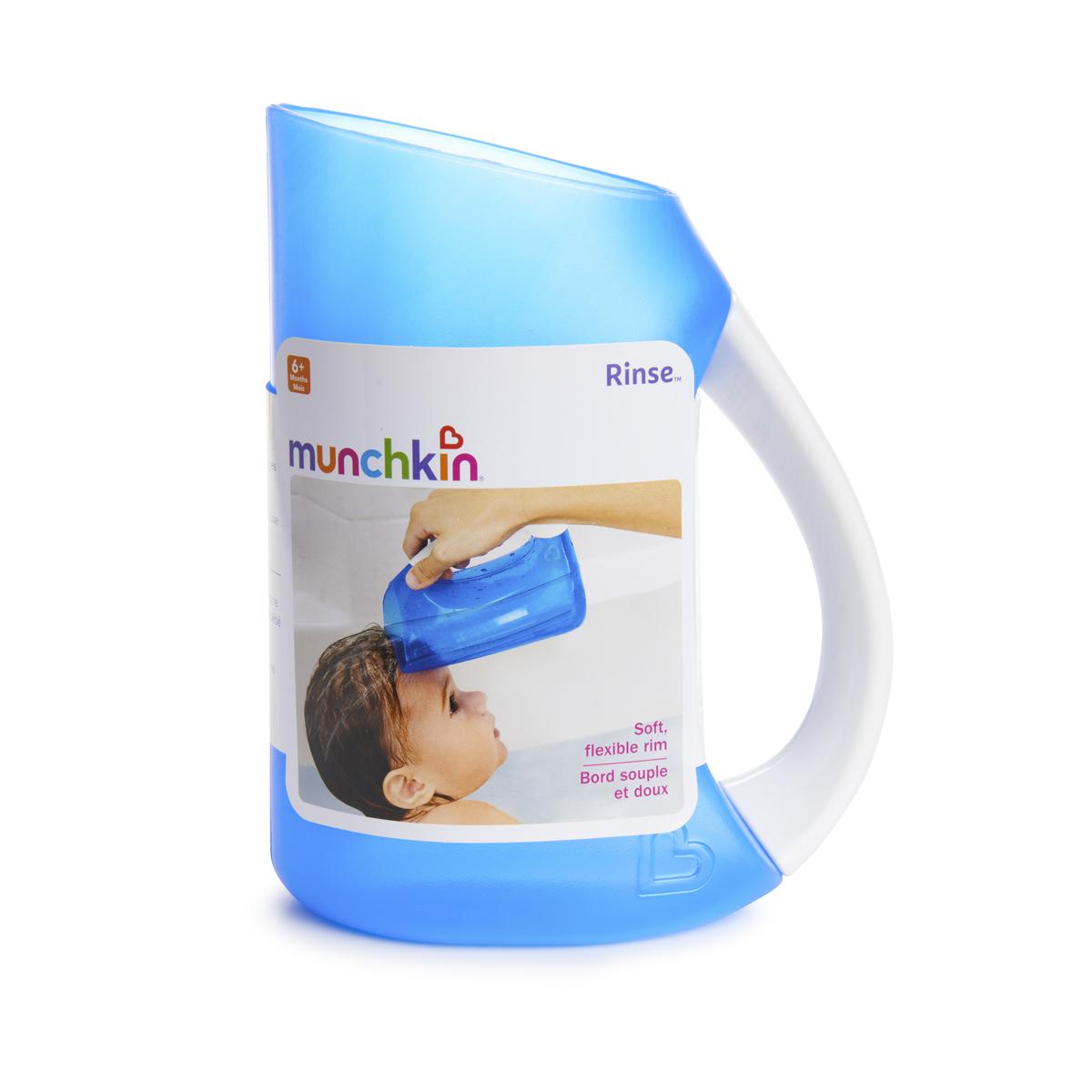 Munchkin Kids Soft Rim Flexi Tear-free Bath Time Shampoo Rinser Child Cup Blue
