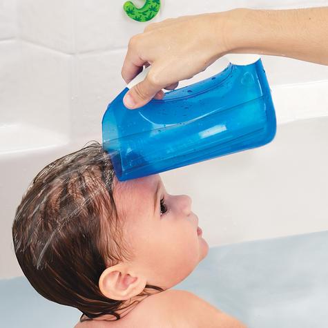 Munchkin Kids Soft Rim Flexi Tear-free Bath Time Shampoo Rinser Child Cup Blue Thumbnail 3