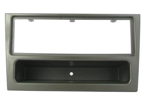 C2 24VX03 Single Din Gun Metal Car Stereo Fascia Adaptor Plate For Vauxhall Agil Thumbnail 1