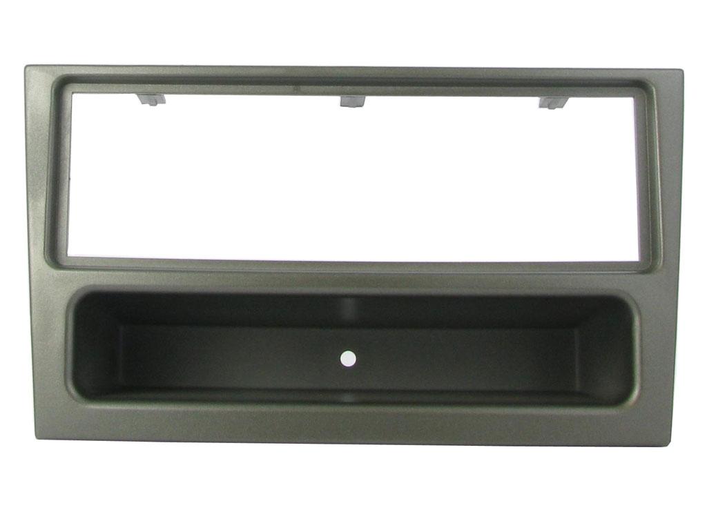 C2 24VX03 Single Din Gun Metal Car Stereo Fascia Adaptor Plate For Vauxhall Agil