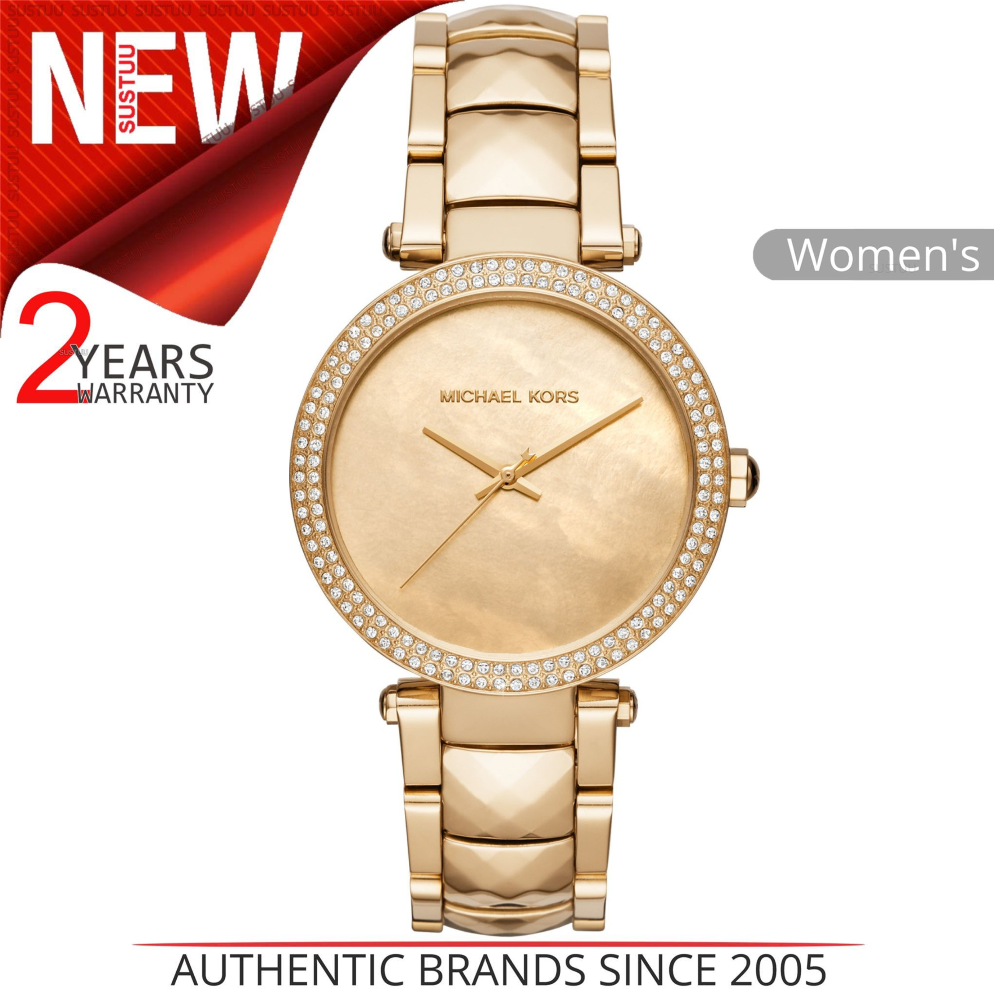 4aacb0722c4e Details about Michael Kors Parker Ladies Watch MK6425│Mother Of Pearl Dial│Gold  Tone Strap
