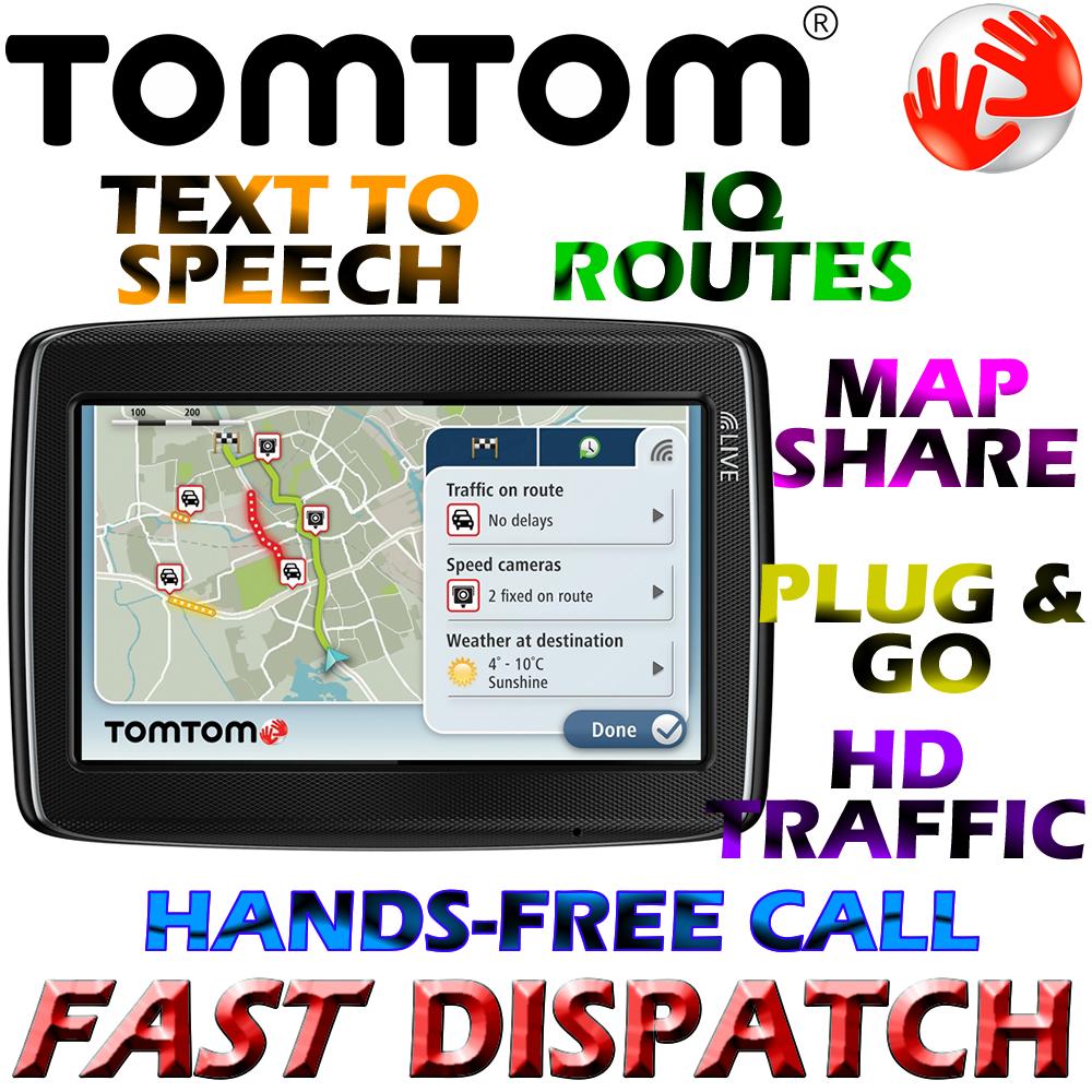 TomTom Go Live 820 LIVE Services GPS SATNAV UK & Western Europe Maps  Bluetooth