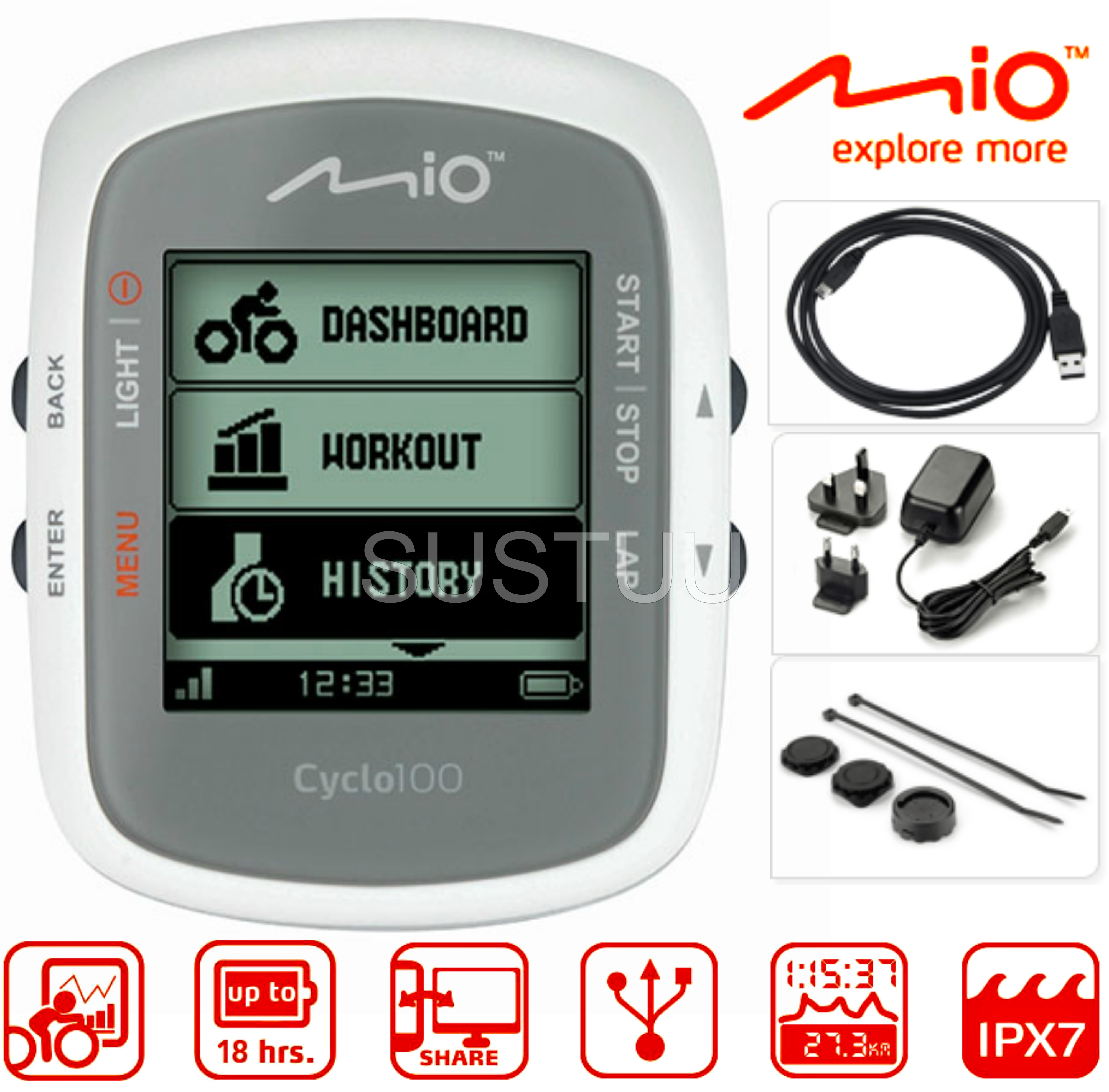 Gps Module Available Via Shop The Entire Internet At Garmin 158i Mio Cyclo 100 Wireless Bike Cycle Computer Speed Distance Pc Link New