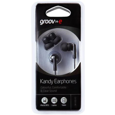 NEW Groov-e GVEB3BK Kandy Stylish Earphones for Apple Android Smartphones Black Thumbnail 2