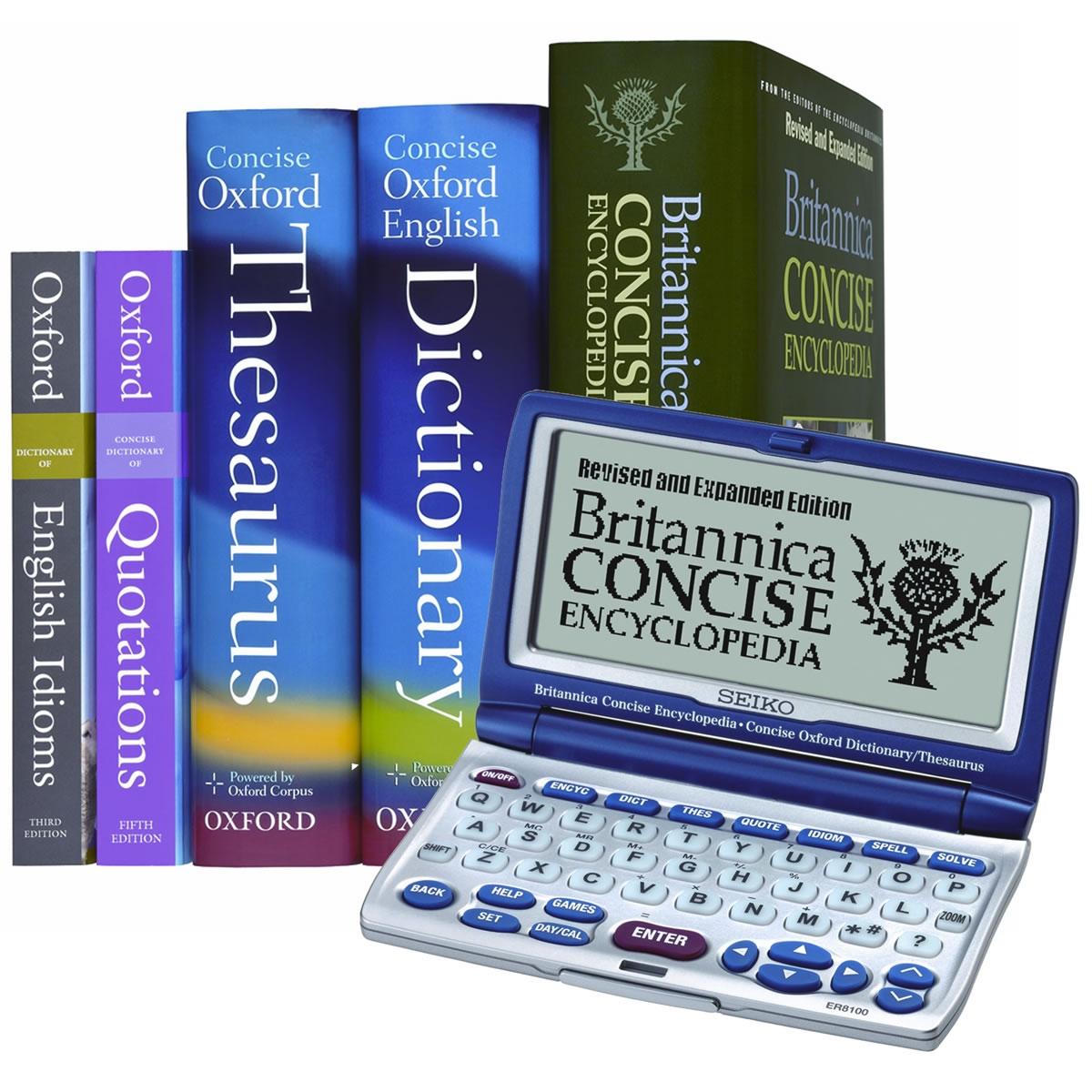 Seiko Britannica/Oxford Reference Library ER8100