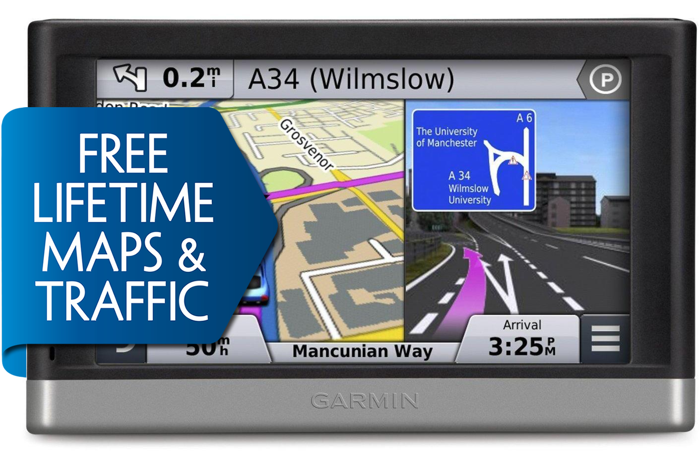 Garmin Nuvi Lmt  Gps Satnav Uk Europe Lifetime Map Traffic Updates