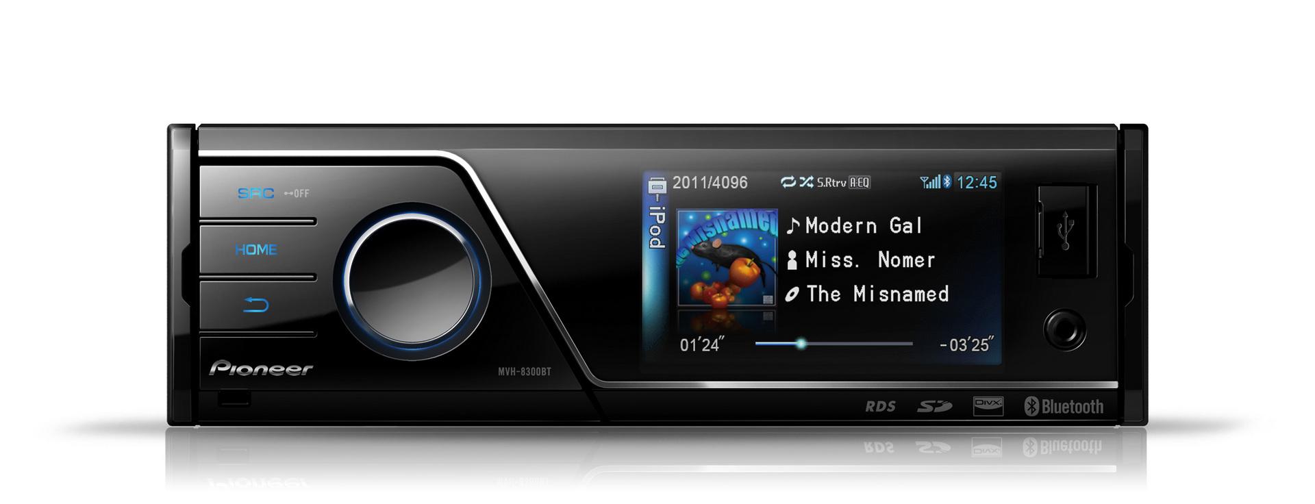 pioneer mvh 8300bt in car vehicle audio ipod usb sound
