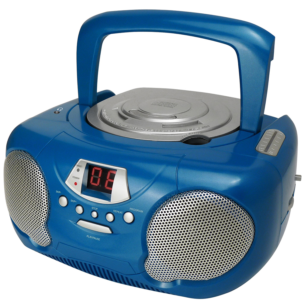 Groov-e Boombox Portable Childrens Kids Blue CD Player ...