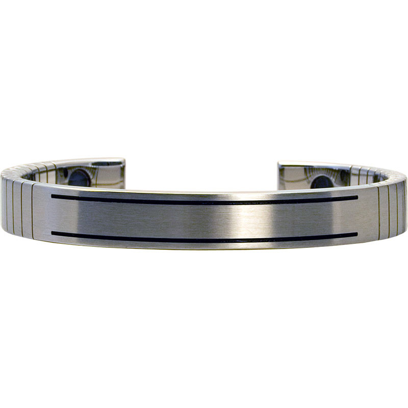 Q-Link SRT-3 Bracelet - Stainless Steel (Brushed) - Men's Large