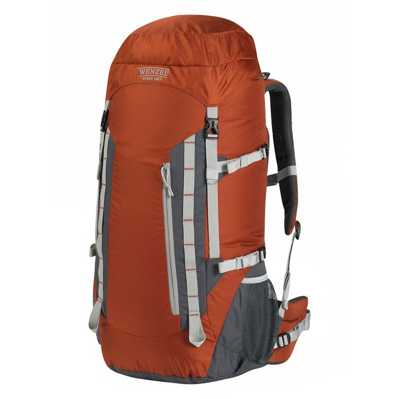 Wenzel Escape Backpack 50 Litres Capacity Carry Bag for Travellers Russet NEW