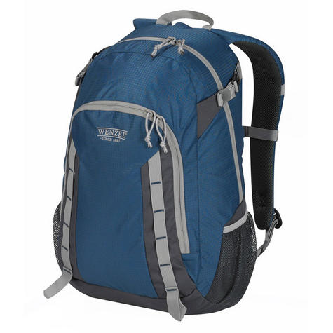 Wenzel Daypacker Daypack 25 Litres - True Blue Polyester Travel Carry Bag NEW Thumbnail 1
