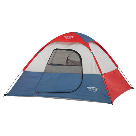 Wenzel Sprout - Dome Strong Tent for 2 children - 6 x 5 ft - Red/Blue/White NEW Thumbnail 1