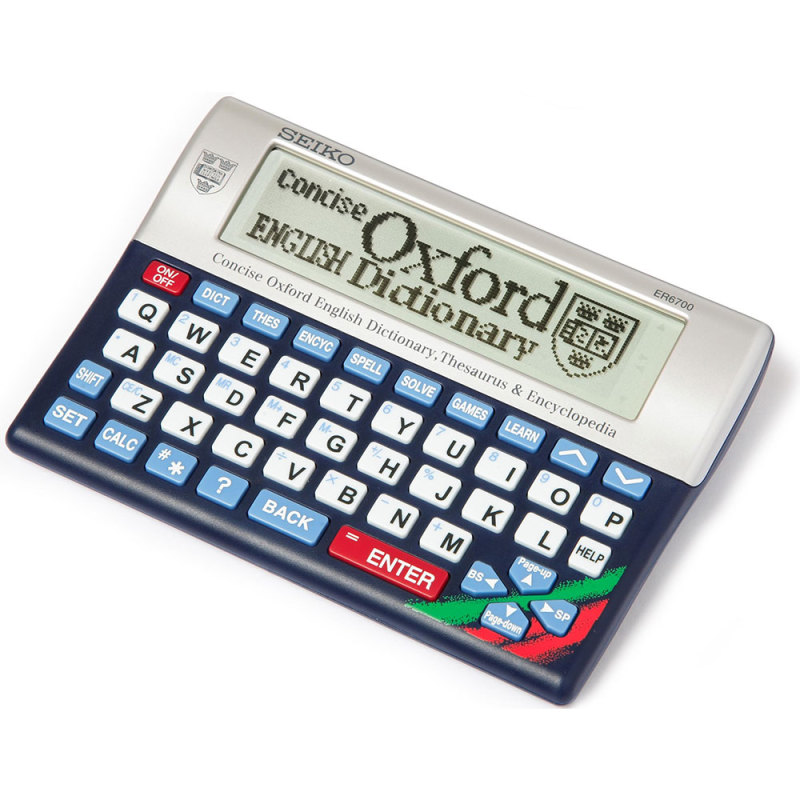 Seiko Concise Oxford Dictionary, Thesaurus & Encyclopedia ER6700