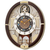 Seiko Analogue Melodies in Motion Wall Clock - 12 Melodies QXM289B