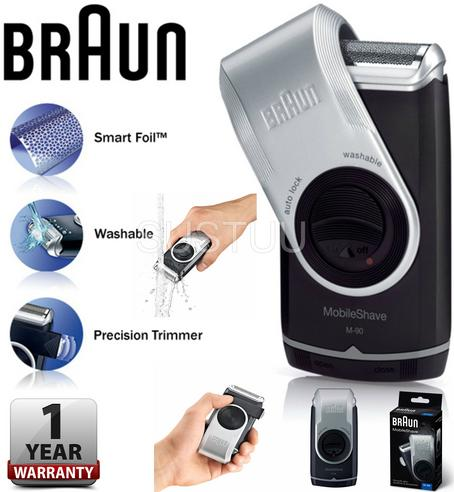 Braun M-90 Men's Mobile Shave Electric Portable Battery Powered Trimmer Shaver Thumbnail 1