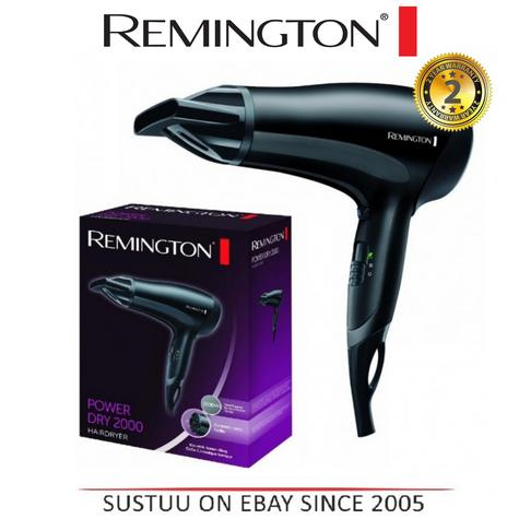 Remington PowerDry Hairdryer 2000W Ladies Beauty Hair Styling Blow Dry Dryer Thumbnail 3