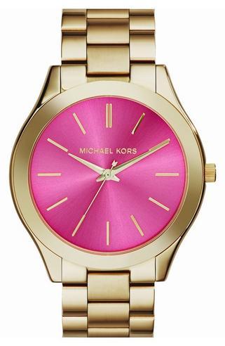 Michael Kors Ladies' Pavé-Embellished Gold-Tone Ultra-Slim Runway Designer Watch Thumbnail 2