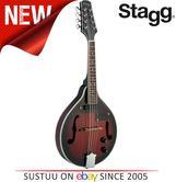 Stagg Electro Acoustic Bluegrass Mandolin with Nato Top   Adjustable Redburst   M50E