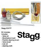 Stagg Trumpet Care Kit Set with Valve Oil Mouthpiece Brush Cleaning Cloth SCKTP