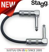 Stagg Short Audio Patch Cable 10cm - Black Music