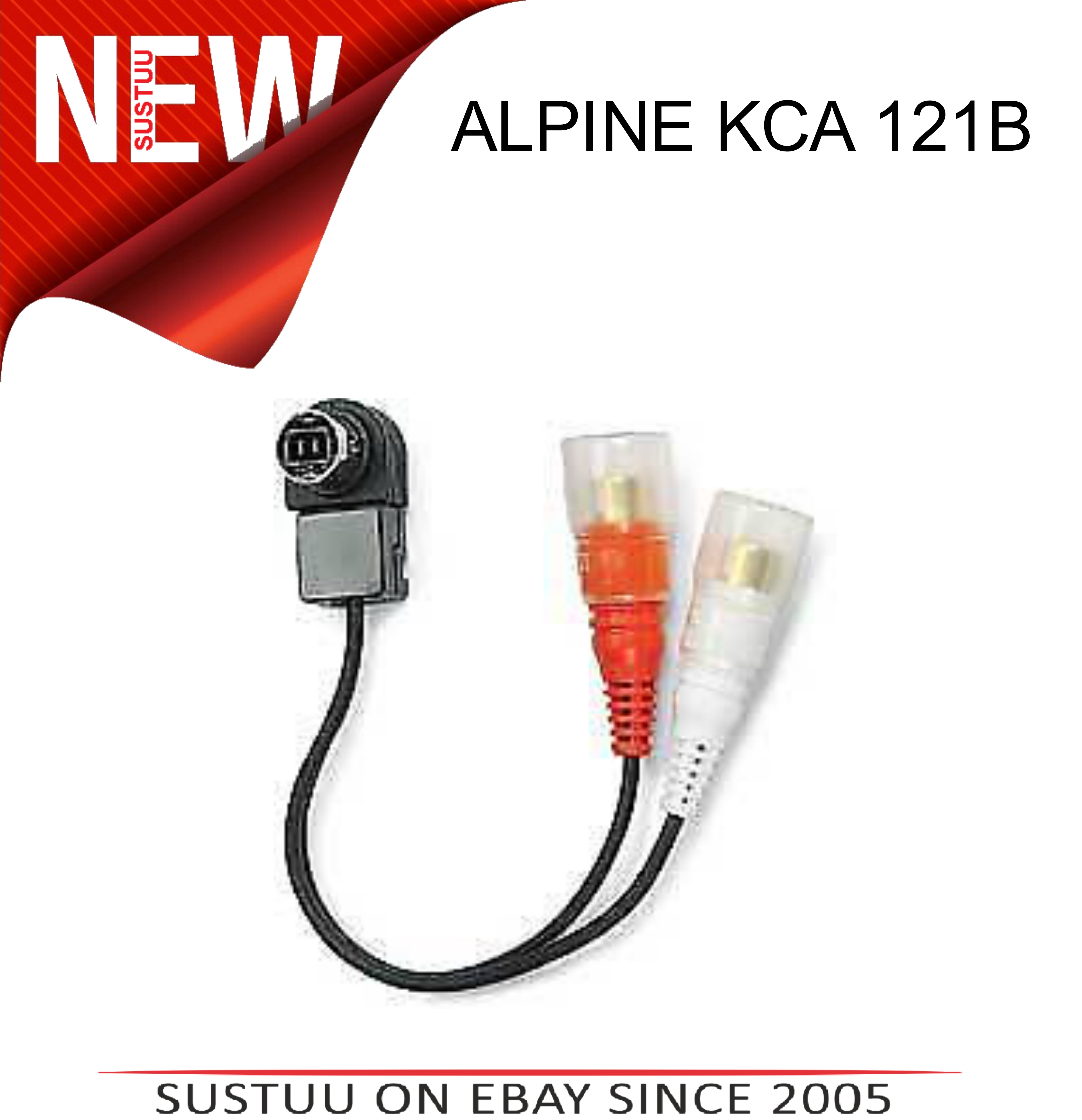 Sentinel ALPINE KCA 121B Audio In Car Cable Lead for Amplifier Equaliser. Sentinel Thumbnail 2