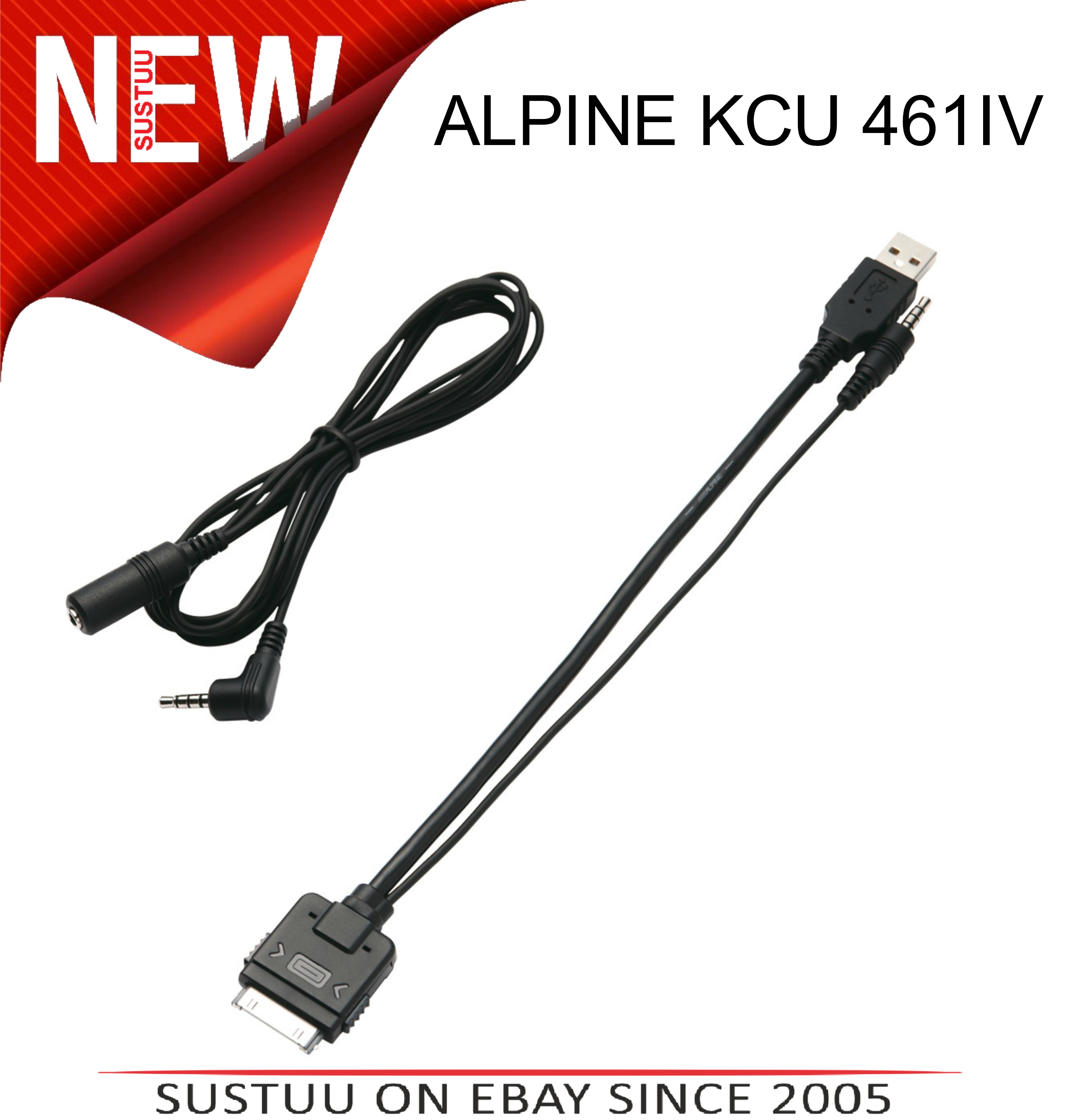 ALPINE KCU 461IV iPod Connector Cable Lead In Car Audio