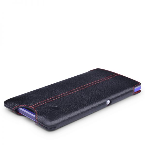 Beyzacases Zero Case for Sony Xperia E1 in Black Genuine Leather Worlds Thinnest