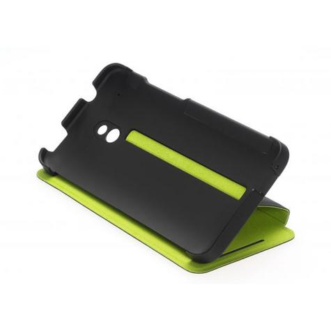Official HTC HC V851 Hard Shell Case for HTC One Mini in Black & Green Thumbnail 1
