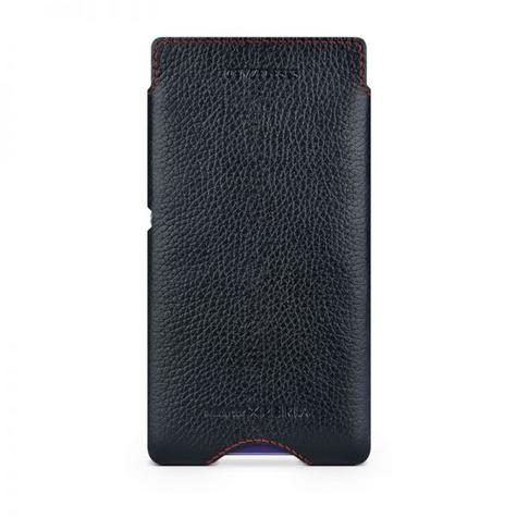 Beyzacases Zero Case for Sony Xperia E1 in Black Genuine Leather Worlds Thinnest Thumbnail 2