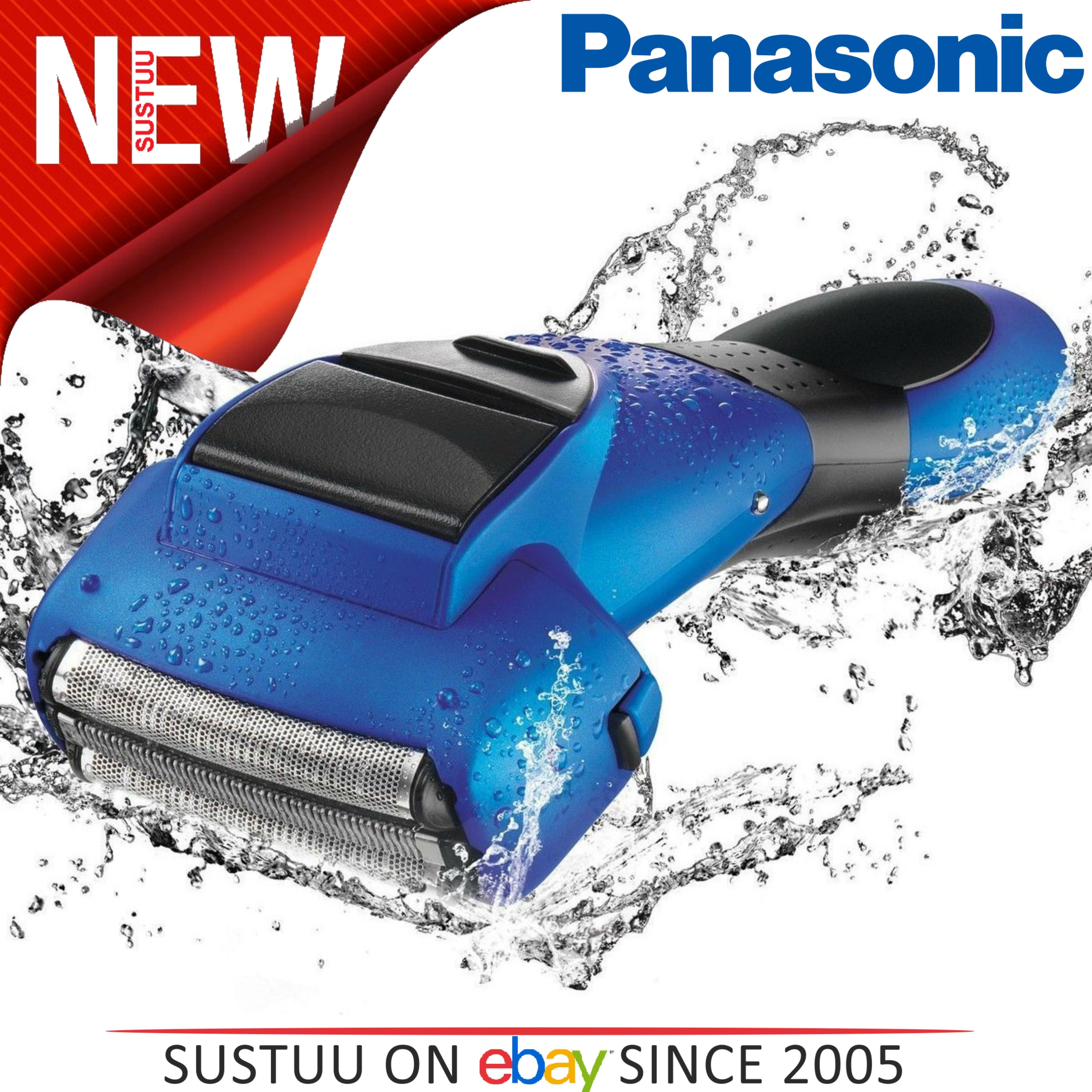 Panasonic Men's 3 Nano Blade Wet & Dry Rechargeable Blue Electric Shaver ESSL41A