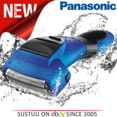 Panasonic Men's 3 Nano Blade Wet & Dry Rechargeable Blue Electric Shaver ESSL41A