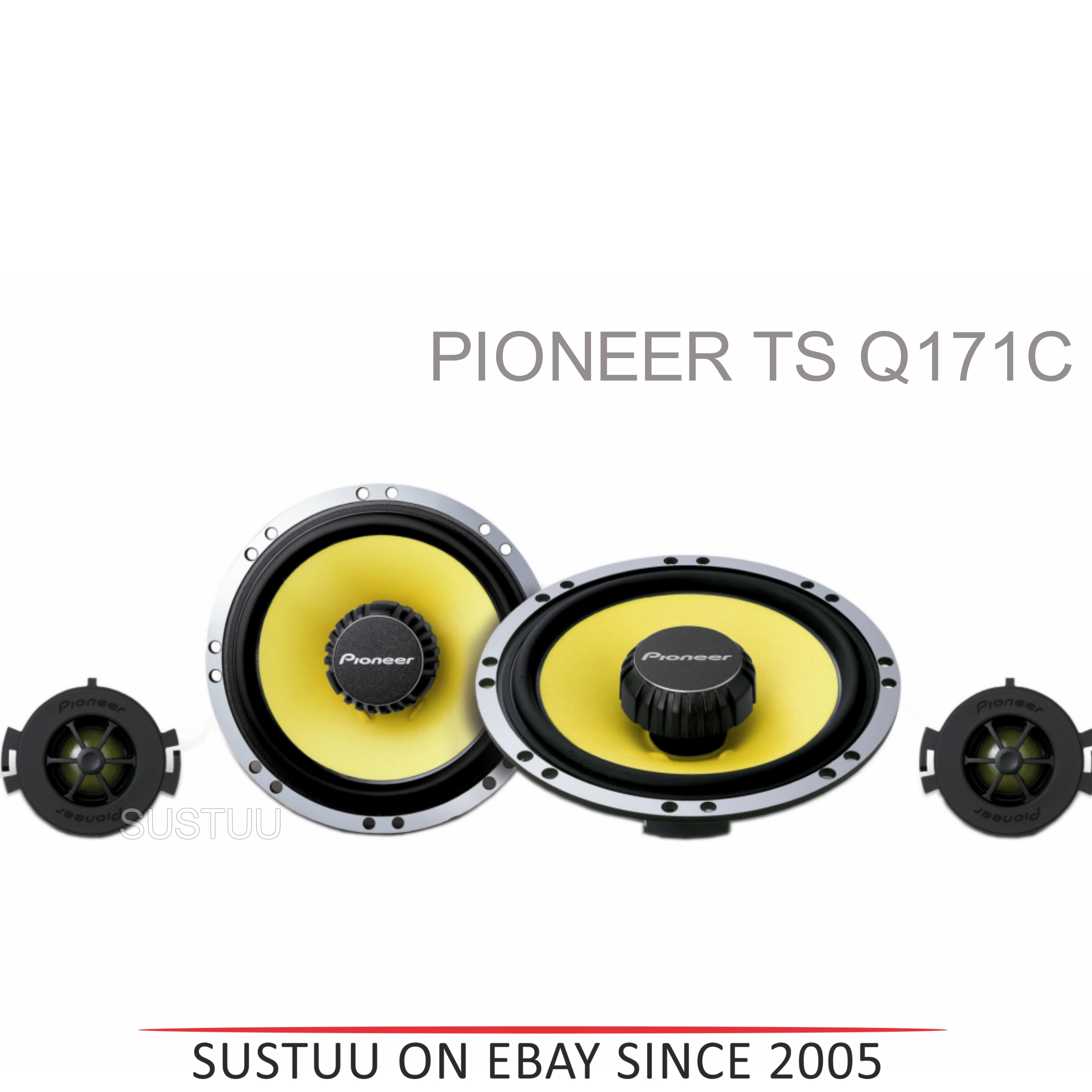 Pioneer TS Q171C|In Car 2way Coamponent Speakers|Door-Shelf|17cm|200W|For Renault Citroen Peugoet