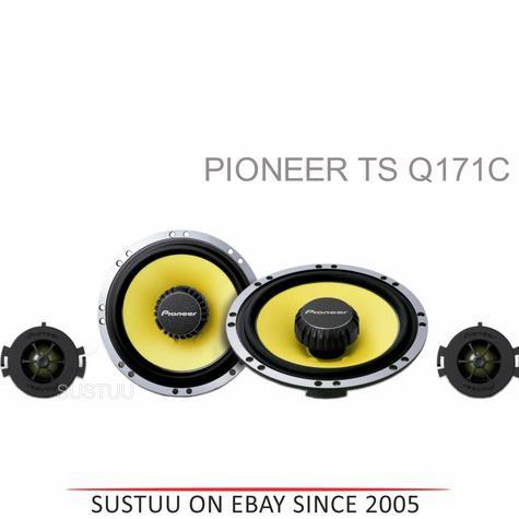 Pioneer TS Q171C|In Car 2way Coamponent Speakers|Door-Shelf|17cm|200W|For Renault Citroen Peugoet Thumbnail 1