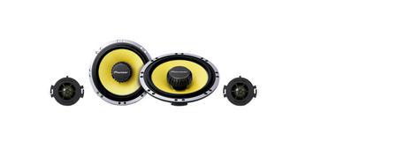 Pioneer TS Q171C|In Car 2way Coamponent Speakers|Door-Shelf|17cm|200W|For Renault Citroen Peugoet Thumbnail 3
