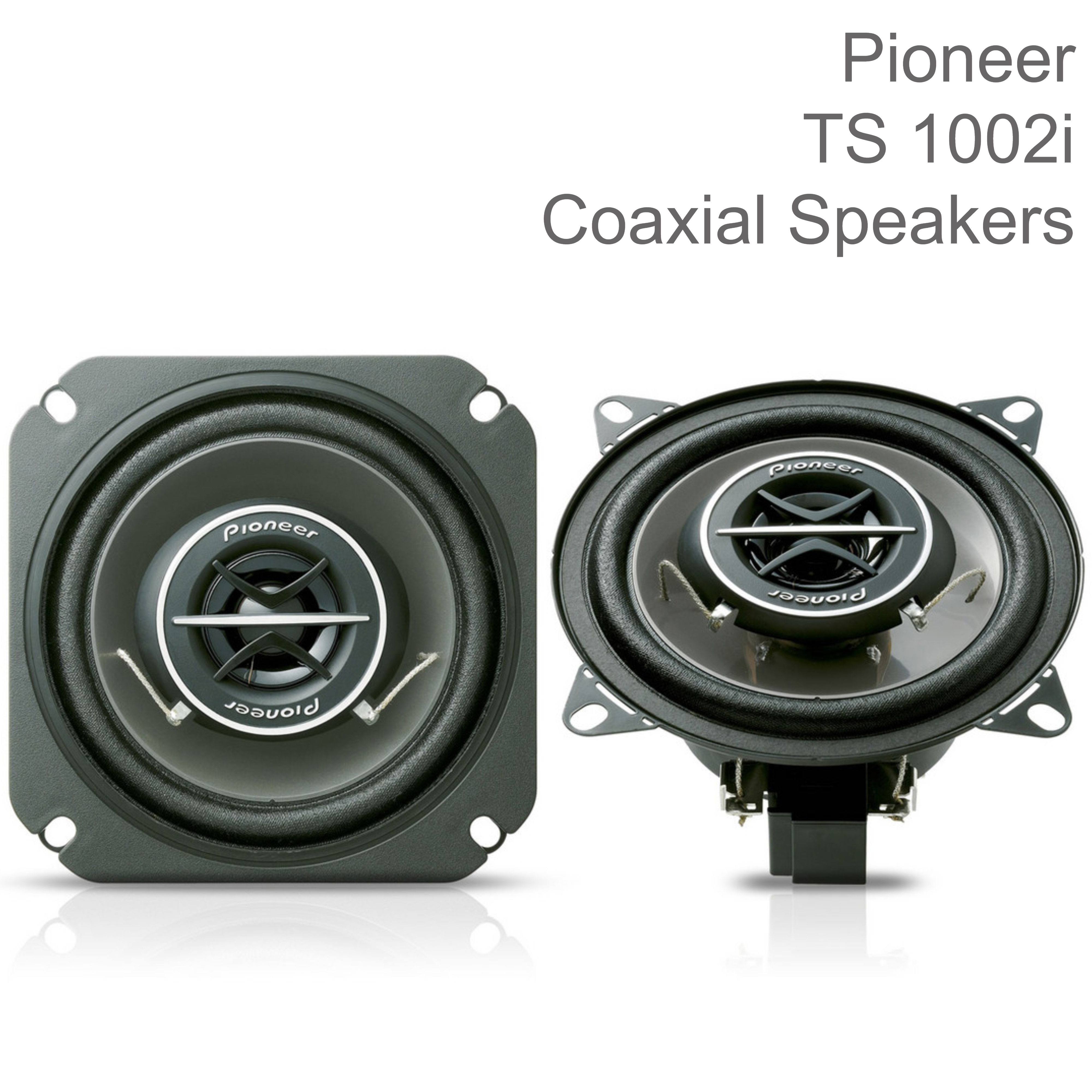 "Pioneer Coaxial 2-Way Custom Fit Car Audio Sound Speakers | 120W Max Power | 4""/10cm"