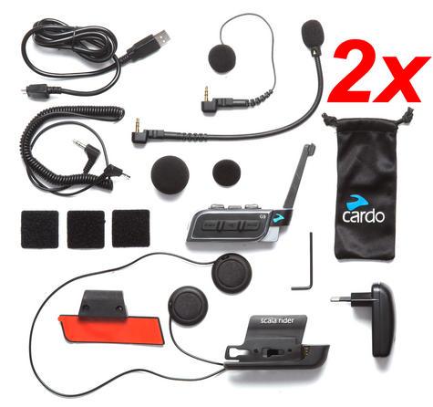 Cardo Scala Rider G9X Powerset | Motorcycle / Bike Bluetooth Intercom | Waterproof  Thumbnail 4